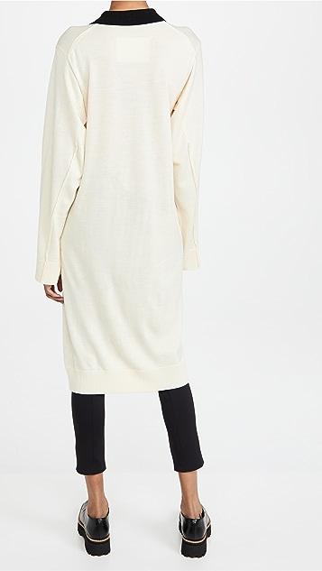 pushBUTTON Collar Knit Slit Dress