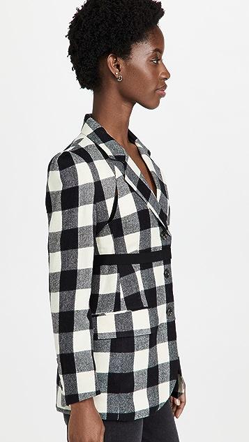 pushBUTTON Check Bolero Layered Jacket