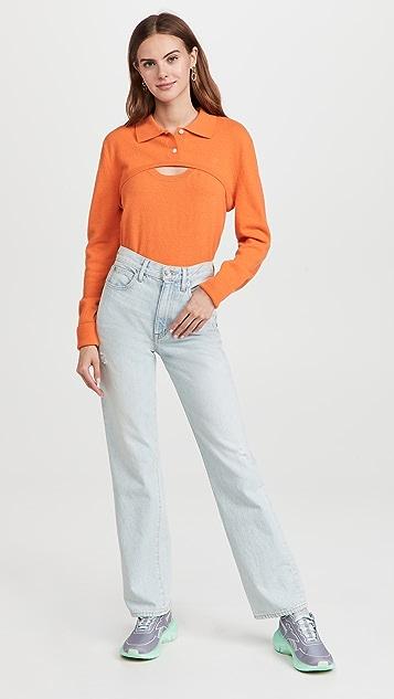 pushBUTTON Orange 2 Pieces Knit Set