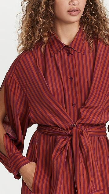 pushBUTTON Belt Detail Hook And Eye Dress