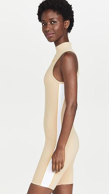 Prince x Melissa Wood Health Mock Neck Bodysuit with Hidden Zipper
