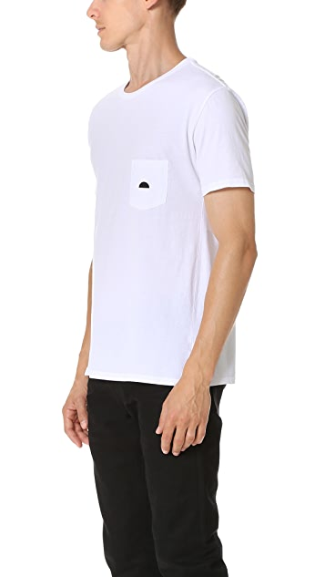 Quality Peoples Sun Logo Pocket Tee