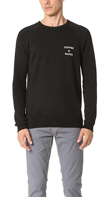 Quality Peoples Coffee & Waves Crew Sweatshirt