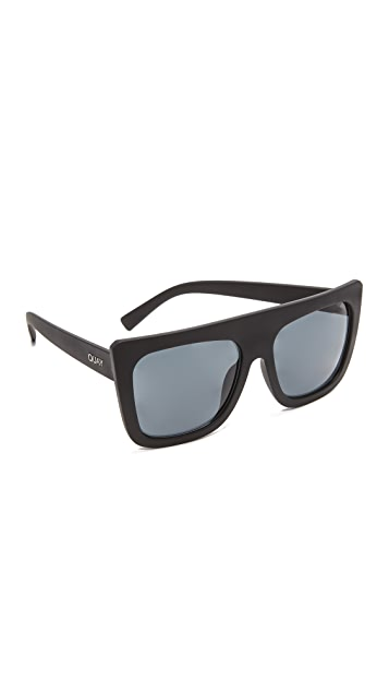 4c9f370958 Quay Cafe Racer Flat Top Sunglasses