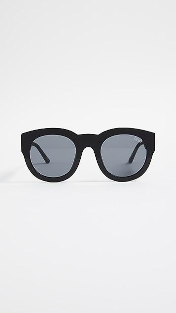 Quay If Only Sunglasses - Black/Smoke