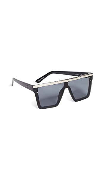 Quay Hindsight with Gold Bar Sunglasses