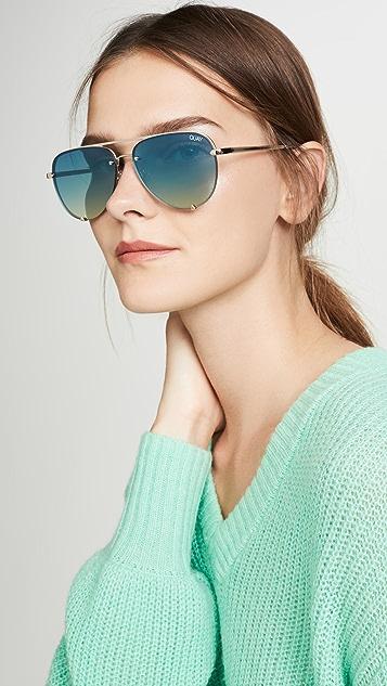 Quay Солнцезащитные очки без оправы High Key Mini