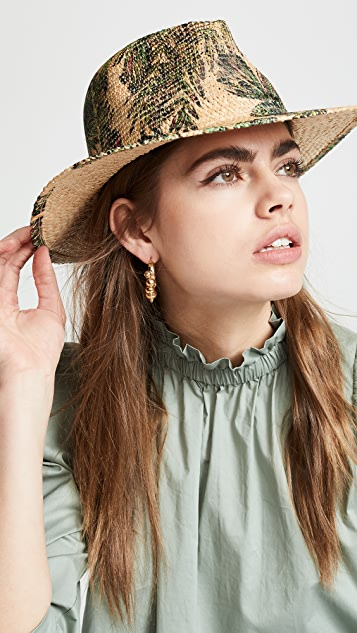 Raffaello Bettini Printed Fedora Hat