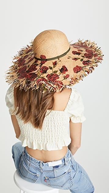 Raffaello Bettini Printed Pamela Hat
