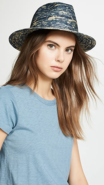 Raffaello Bettini Dyed Straw Fedora Hat