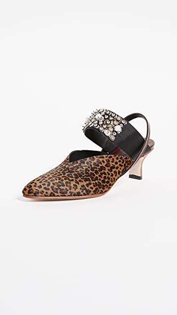 Rachel Comey Beaded Wext Kitten Heel Pumps