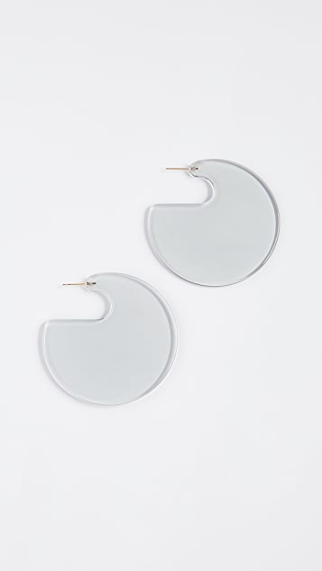 Rachel Comey Camille Earrings - Solid Smoky