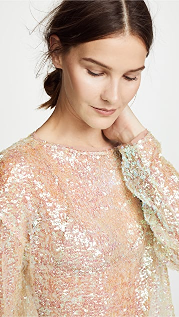 Gorgeous iridescent sequined top