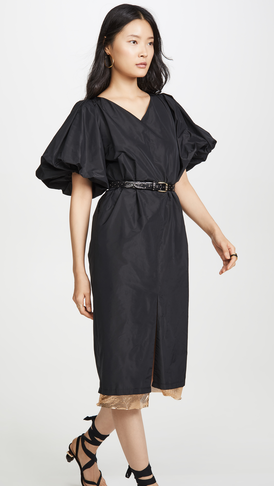 Rachel Comey Lurie dress in black taffeta