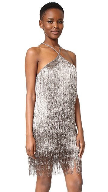 Rachel Zoe Metallic Fringe Dress