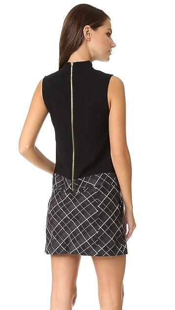 Rachel Zoe Naya Drop Waist Pleated Dress