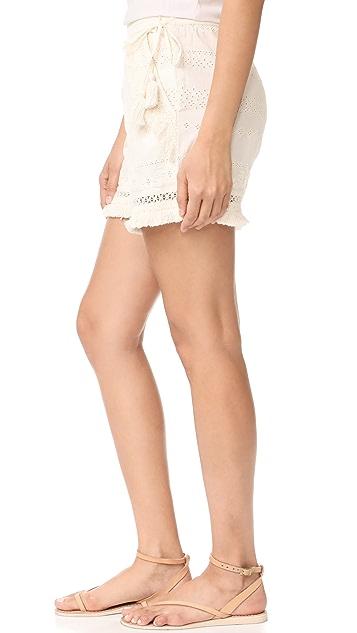 Rachel Zoe Karlene Fringe Shorts