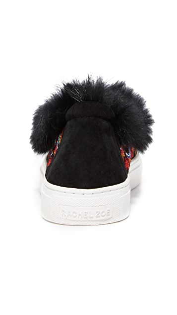 Rachel Zoe Burke Fur Slip On Sneakers