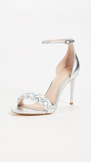 Rachel Zoe Ashton Braid Sandals - Silver