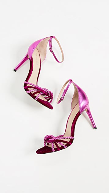 Loving these strappy stilettos
