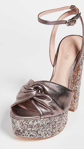 Rachel Zoe Claudette Glitter Platform Sandals