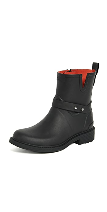 Rag and Bone Moto Rain Boots - Black