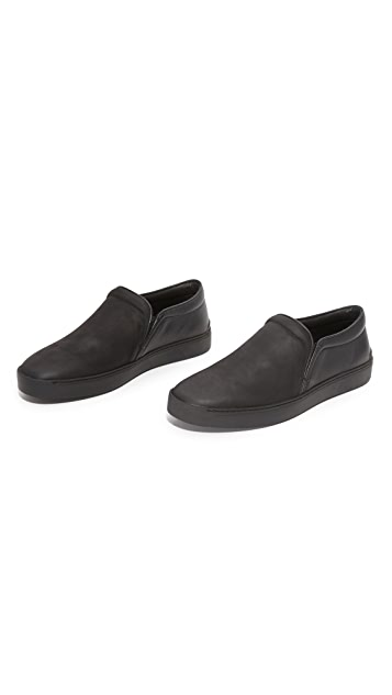 Rag & Bone Kent Matte Leather Slip On Sneakers