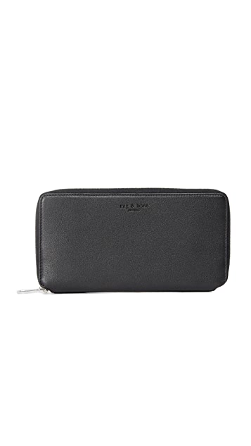Rag & Bone Zip Around Wallet - Black