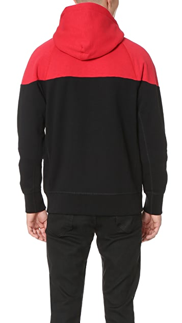 Rag & Bone Color Block Precision Hoodie