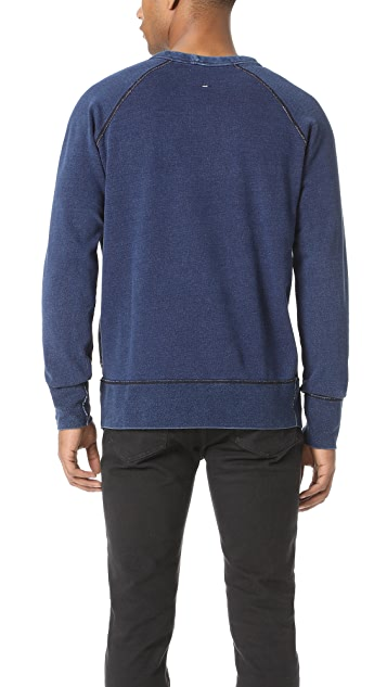 Rag & Bone Vacation Indigo Graphic Sweatshirt