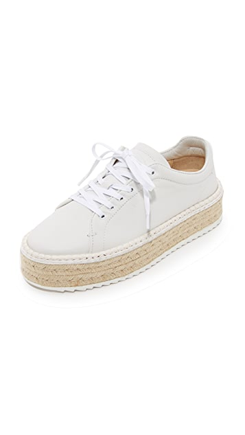Rag & Bone Woman Kent Leather Platform Espadrille Sneakers Off-white Size 39 Rag & Bone vGqXj