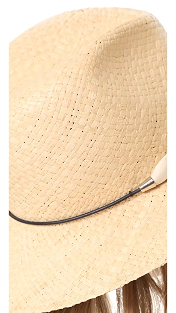 Rag & Bone Raffia Wide Brim Hat