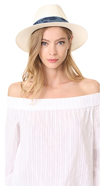 Lacey Wide Brim Panama Hat in Beige. - size S/M (also in M/L) Rag & Bone