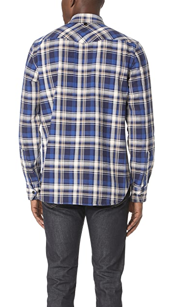 Rag & Bone Walker Flannel Plaid Shirt