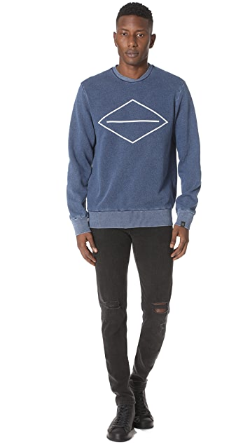 Rag & Bone Graphic Indigo Sweatshirt