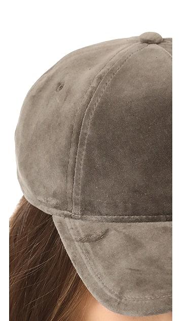 Rag & Bone Marilyn Velvet Baseball Cap