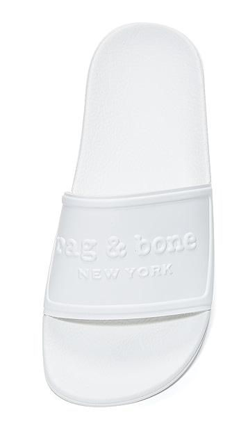 Rag & Bone Logo Pool Slides