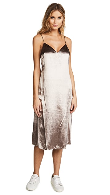 Rag & Bone Parker Velvet Slip Dress