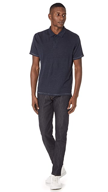 Rag & Bone Owen Linen Polo Shirt