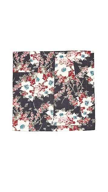 Rag & Bone Kimono Floral Bandana Scarf