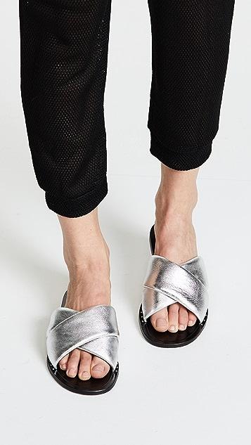 RAG&BONE Keaton Leather Slides 5FleV