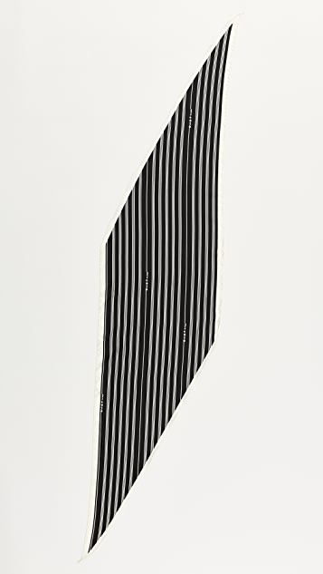 Rag & Bone Narrow Silk Headwrap