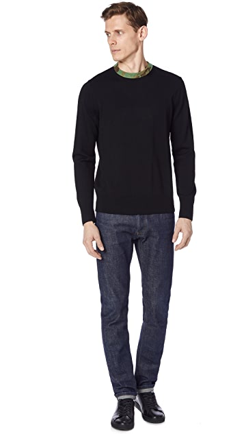Rag & Bone Camo Crew Neck Sweater