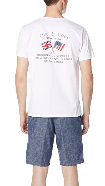 Rag & Bone Flag Tee