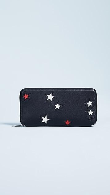 Rag & Bone Zip Around Wallet - Star Multi