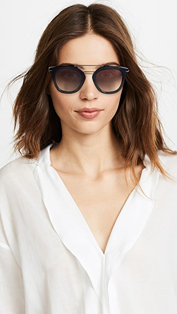 Rag & Bone Iconic Browbar Sunglasses