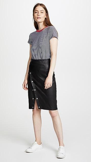Rag & Bone Baha Leather Skirt