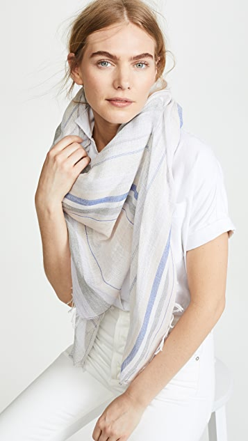 Rag & Bone Metallic Stripe Scarf