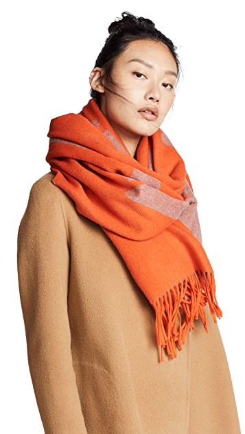 Rag & Bone Classic Wool Graphic Scarf