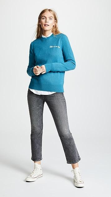 Rag & Bone Кашемировый свитер Vicky с округлым вырезом